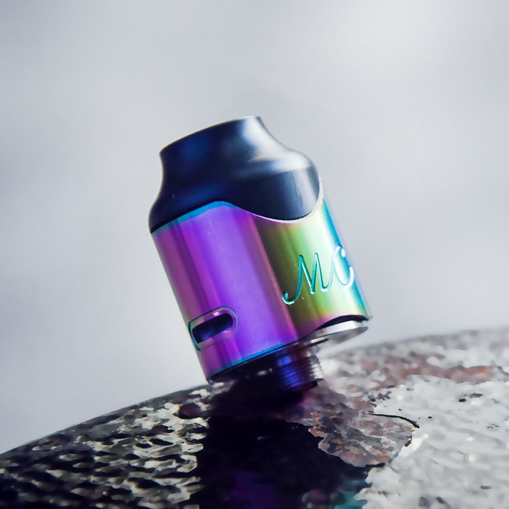 100% Authentic SMOKJOY Mushroom Cloud RDA Tank Atomizer & Turbine Airflow Design 24mm Diameter Fit SMOKJOY Gotta God Mech MOD