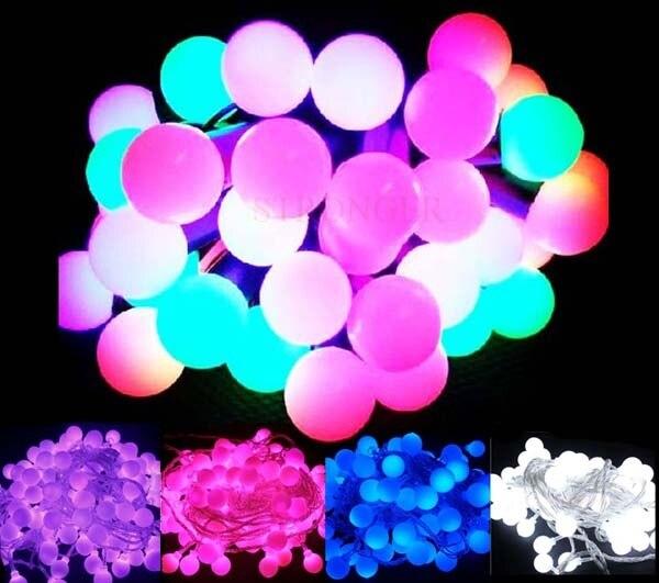 Promotion! 10m LED Light String Strip Fairy Lights For Wedding Xmas Party Home Decoration 100 Matte Balls 110V/220V EU/US/UK/AU