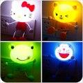 DIODO EMISSOR de Luz Controle de Sensor KT Vaquinha Dos Desenhos Animados Do Bebê Night Light Decor Mini Lâmpada Panda Novidade Iluminação de Parede para o Quarto Dos Miúdos EUA Plug