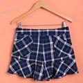 Estilo coreano New Lady Moda Shorts Da Manta de Calças Curtas das Mulheres Saia 18