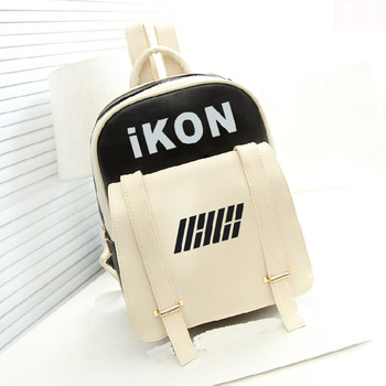 New Kpop Hiphop Ikon BOBBY B.I PU Bags Backpack Schoolbag bts taehyung warriors