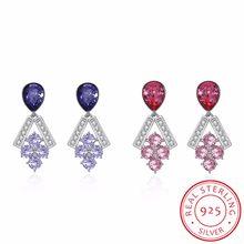 d7f8ca565 2018 NEW 925 Sterling Silver Fine Jewelry Grape shaped Tassel Drop Earrings  Crystal from Swarovski Ladies Fashion Earrings