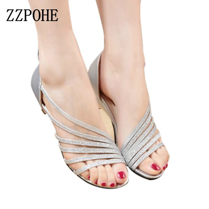 ZZPOHE 2017 summer new Women Fashion sexy Sandals strand empty fish head shallow mouth low-heeled sandals comfortable sandals 2016 summer new leather tendon at the bottom side of the empty fish head crude rainbow low heeled shoes women xtf039