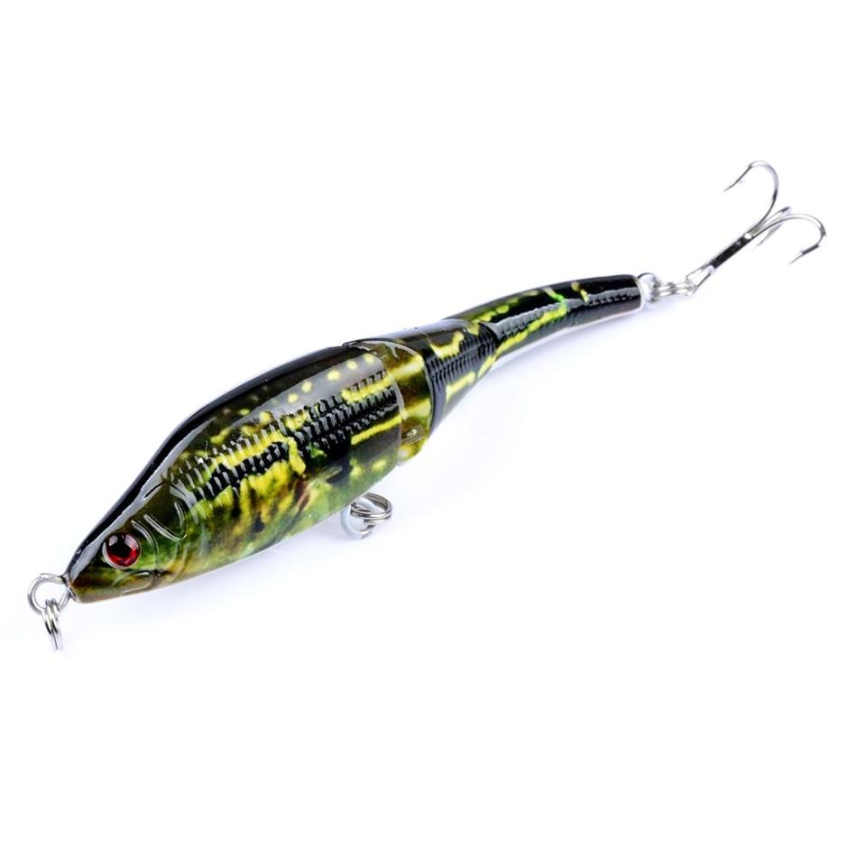 1PCS 9.5cm 8.9g Fishing Wobblers Lifelike Fishing Lure 3 Segment Swimbait Crankbait Hard Bait Isca Artificial Lures RM015
