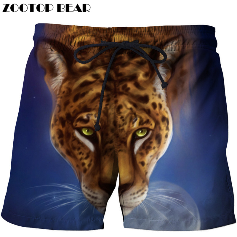 Panther Printed Beach   Shorts   Men   Board     Shorts   3d   Shorts   Plage Animal Swimwear Quick Dry Pants Fashion 8XL Drop Ship ZOOTOP BEAR
