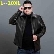 10XL 8XL 6X зима Для мужчин Натуральная кожаные пальто меховой воротник мотоциклетная куртка Для мужчин Кожаная куртка теплая зима толстые jaqueta de couro