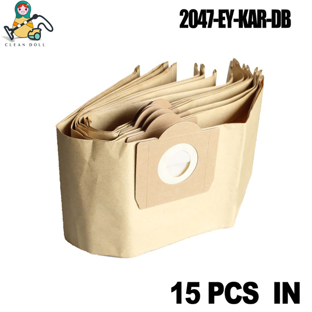 15 шт. пылесборники для пылесоса Karcher WD3 WD3200 WD3300 WD3.500P MV3 SE4001 SE4002 6,959-130 Karcher пылесборники