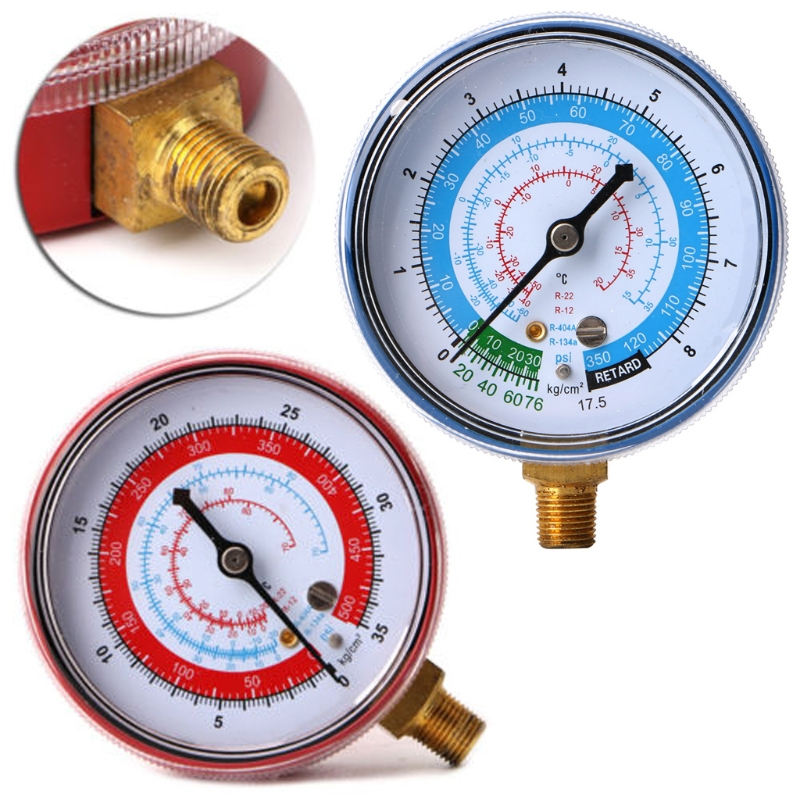 New Air Conditioner R404 R134A R22 Refrigerant Low Pressure Gauge PSI KPA Blue JUN-22B