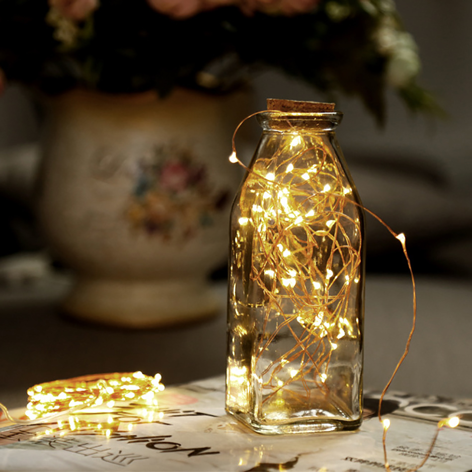 Holiday Copper Wire LED String Lights 3M/5M For Wedding Party Decoration/Christmas Treen/CHildren Home Room Led Lighting