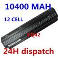 10400 mah 12 celdas de batería portátil de baterías del ordenador portátil para hp compaq cq42 cq32 mu06 mu09 g62 g72 g42 593553-001 dm4 593554-001