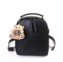 Новый Швейные нитки pu кожаная сумка рюкзаки шва Институт ветер геометрический узор небольших мягкие нейлоновые мешки плечи мешок