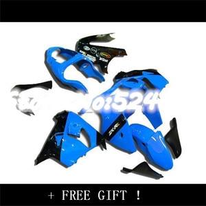 Hot Sales,ZX-9R Fairings parts for KAWASAKI Ninja ZX-9R 98-99 ZX 9R 1998-1999 ZX9R ZX9R Silver Flame in Blue ABS Fairing Kit-Hey(China)