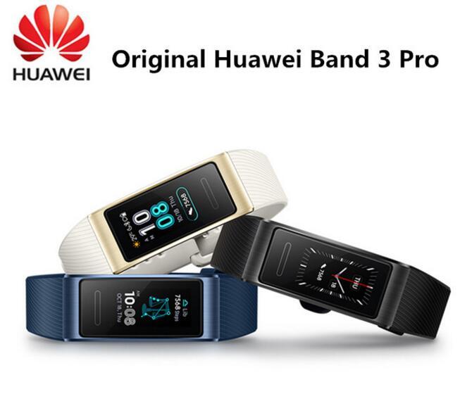 Original Huawei Band 3 Pro GPS Smart Band Metal Amoled 0 95 Full Color Touchscreen Swim