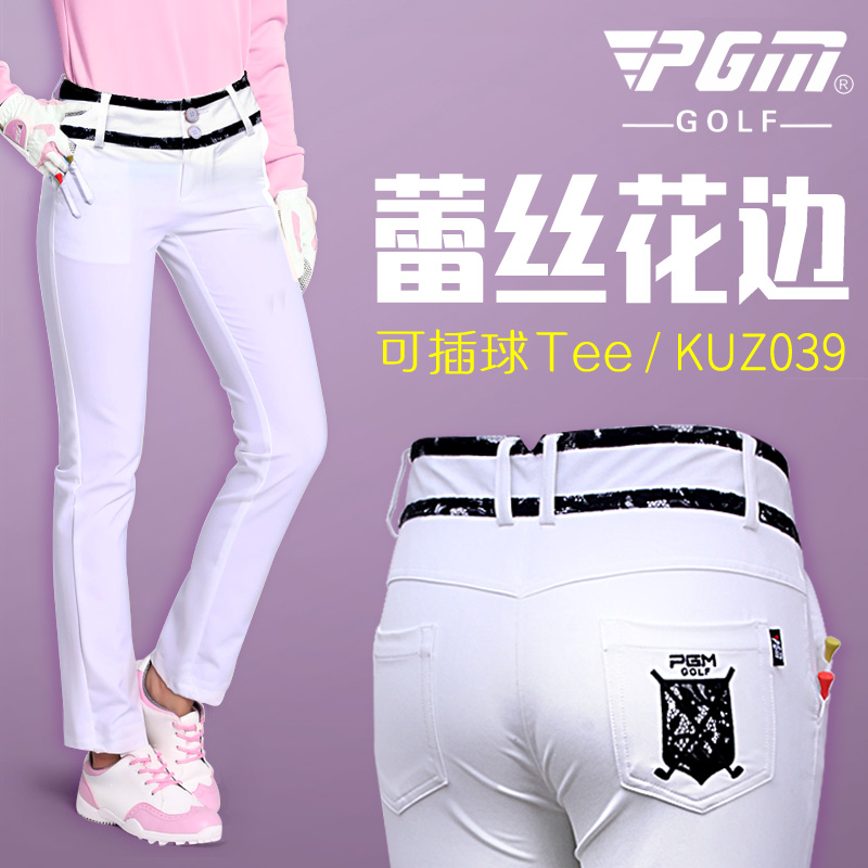 New Lady Clothes Golf Tennis Slim Thin Pant Women Lace Trousers High Elastic Outdoor Sportwear Long Pant Breathable Slim Dry Fit jeans men s blue slim fit high quality hole brand youth pop male fashion denim cotton casual trousers pant pencil pant gent life