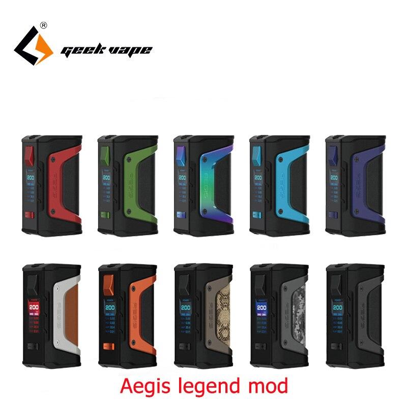 Big sale GeekVape Aegis mod aegis Legend 200W TC Box MOD Powered by Dual 18650 batteries