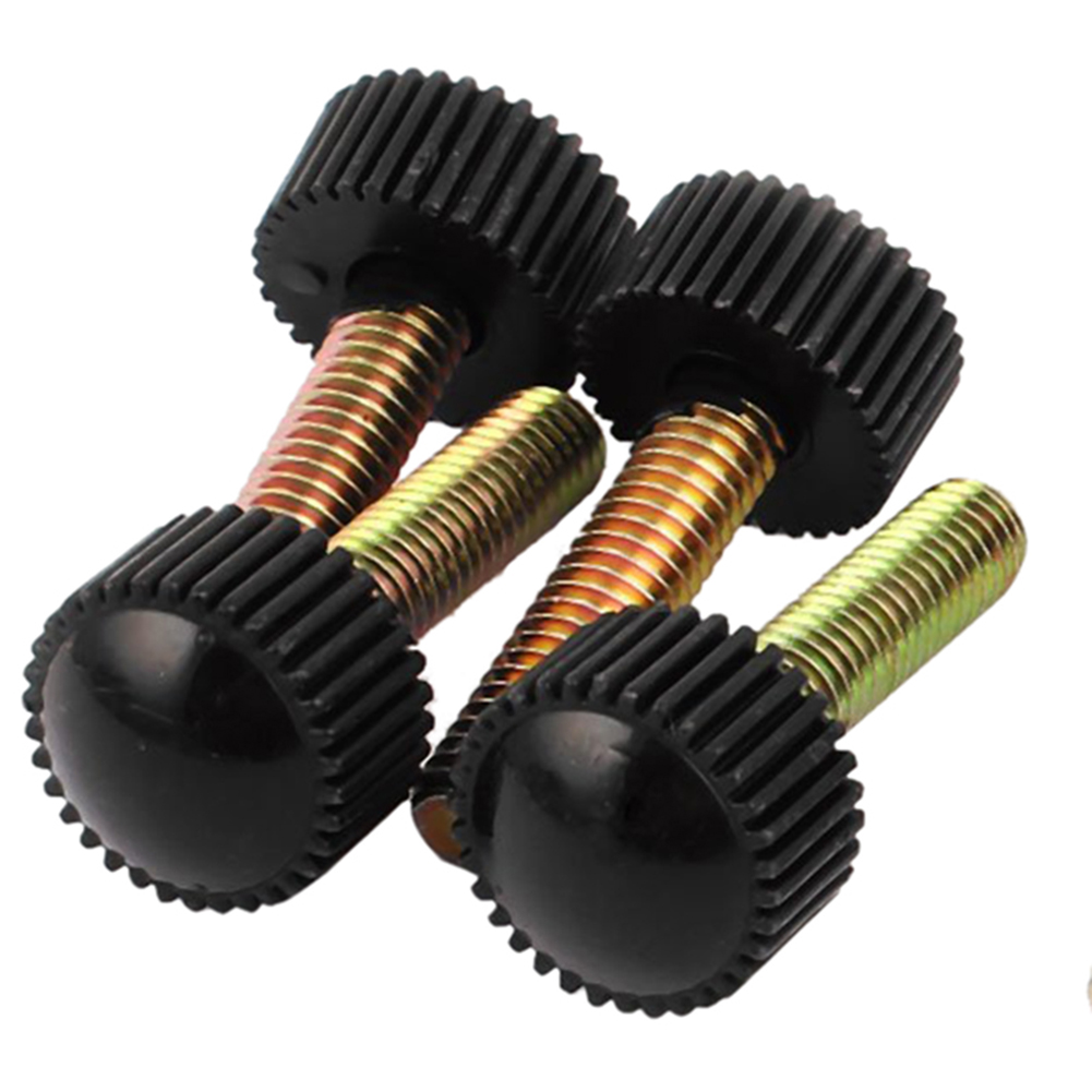 m6 x 25mm round head screw on straight knurled clamping knob grip