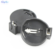 100Pcs Horizontal-Type CR2032 Coin Button Cell Lithium Battery Case Holder Socket Junction Box