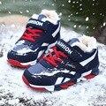 Os novos sapatos de desporto crianças sapatos de esportes de inverno e meninas e meninos deslizamento de espessura cashmere quente Ginásio sapatos Adequados para 3-16 anos de idade