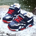 The new sports shoes children winter sports shoes and girls boys slip thick warm cashmere Gym shoes Suitable for  3-16 years old