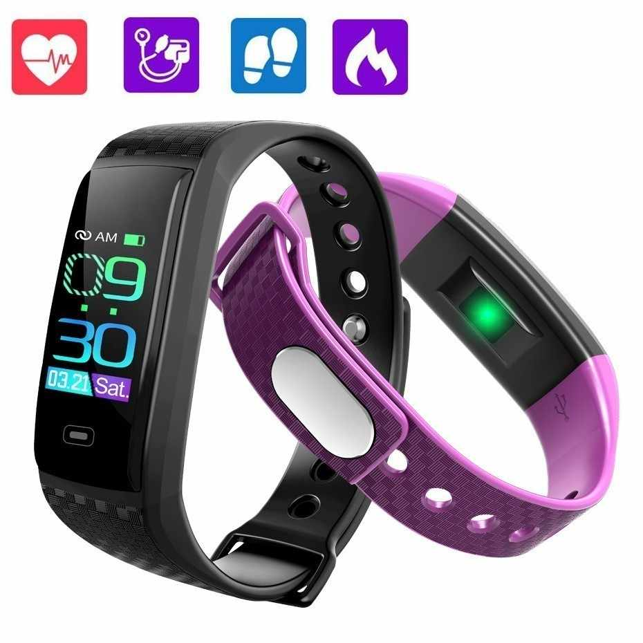 GIMTO Smart Band Sport Watch Men Women Heart Rate Fitness Tracker Smart Bracelet Blood Pressure Measurement Pedometer Waterproof