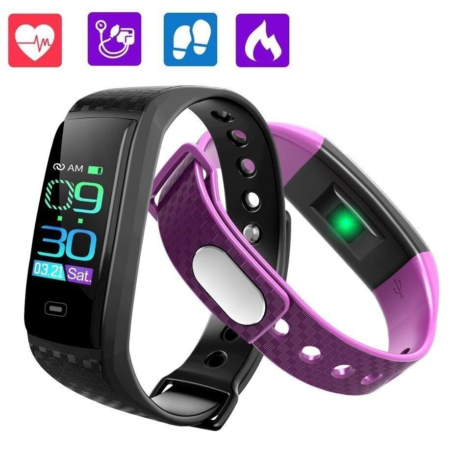 GIMTO montre de Sport bande intelligente hommes femmes fréquence cardiaque Tracker de Fitness Bracelet intelligent mesure de la pression artérielle podomètre étanche