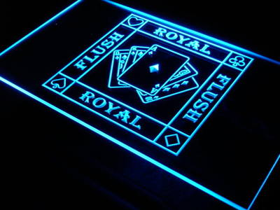 i938 Royal Flush Poker Casino Ace Bar Decor Neon Light Sign On/Off Switch 20+ Colors 5 Sizes