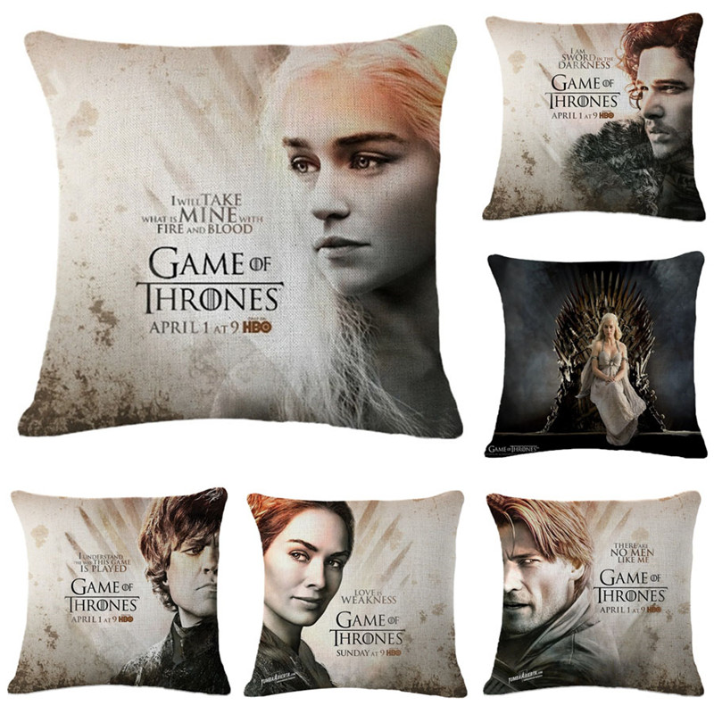 cushion cover game of thrones pillowcase cotton linen bedroom seat throw pillow case car covers. Black Bedroom Furniture Sets. Home Design Ideas