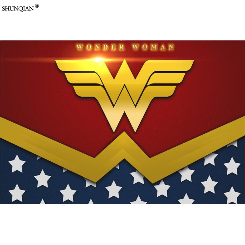 Wonder Woman <font><b>Logo</b></font> <font><b>Poster</b></font> Print Silk Fabric Print <font><b>Poster</b></font> Cloth Fabric Wall <font><b>Poster</b></font> Custom Satin <font><b>Poster</b></font> 40X60cm,50X75cm,60X90cm image