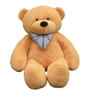 stuffed animal plush 80cm cute teddy bear light brown plush toy throw pillow w947
