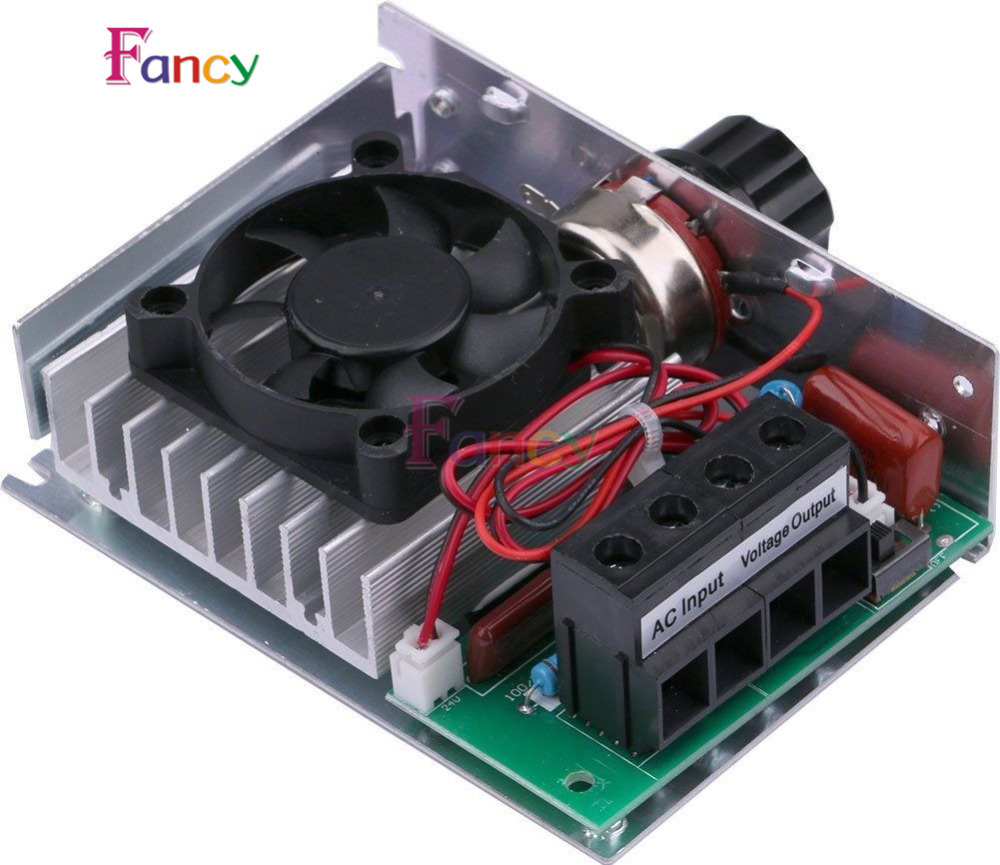 10000W ultra-high power SCR Motor Speed controller Electronic regulator dimming speed control with Fan стоимость