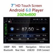 """Центральный Multimidia 1024*600 7 """"2 DIN Android 6.0 carMP5 плеер GPS Wi-Fi Авто аудио стерео радио поддержка Камера заднего вида"""