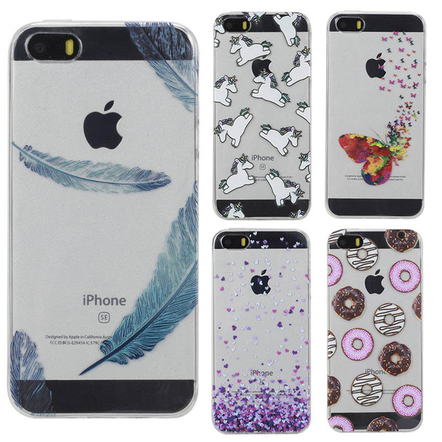 sports shoes 41a92 aeb2e US $3.15 |For iPhone 5S Case Transparent 3D Printing Soft TPU Silicon Back  Cover For Case On iPhone 5S 5 SE Case Coque on Aliexpress.com | Alibaba ...