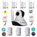 Wi-fi HD IP CCTV sistema de câmera de segurança em casa de alarme de Intrusão com sensor de alarme do assaltante + monitor do bebê sem fio + vídeo caputre
