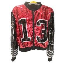 Бейсбольная модная дизайнерская женская куртка-бомбер с пайетками оптом