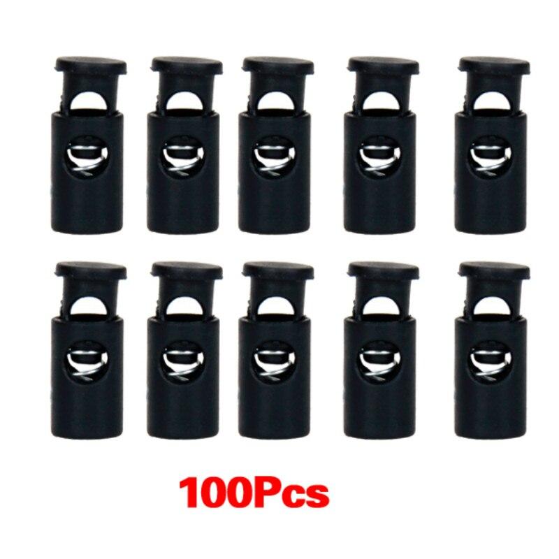 10 x big Black Plastic CYLINDER Barrel cord LOCKS Toggle Drawstring STOP Locks