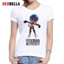 REDBELLA Camisetas Mujer Cool Japanese Girl Style Cotton Casual T Shirt Fashion Harajuku Ulzzang Short Sleeve
