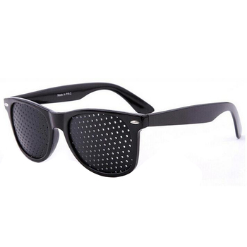 Vision Care Pin Hole Sunglasses Men Women Anti-Myopia Eye Exercise Improver Glasses Eyesight Natural Stenopeic Glasses