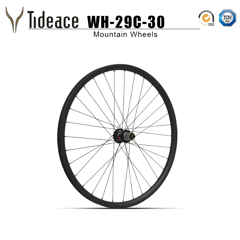 2019 29er wheels 30mm width clincher or tubuless compatible UD 29inch Mtb carbon wheelset with Novatec hubs QR or thru axle in Bicycle Wheel from Sports Entertainment