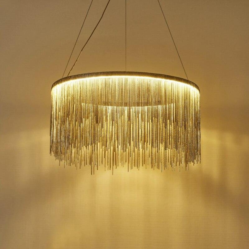 Moderne led kwastje aluminium ketting Hanglampen Nordic lamp hanglampen decoratieve art lampen hanglampen for a eetkamer