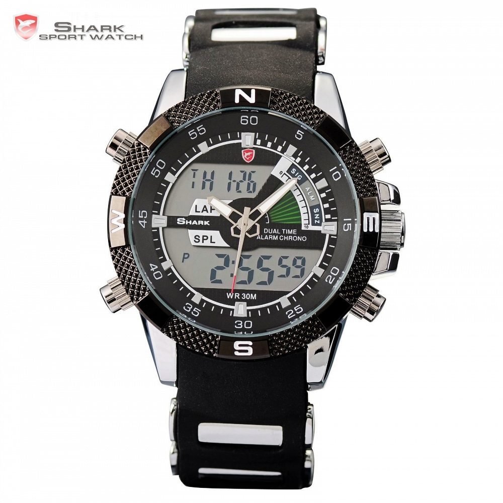 Porbeagle SHARK Sport Watch Black Military Rubber Band Hiking Digital LCD Electronic Watches Date Chronograph Male Clock /SH042Porbeagle SHARK Sport Watch Black Military Rubber Band Hiking Digital LCD Electronic Watches Date Chronograph Male Clock /SH042