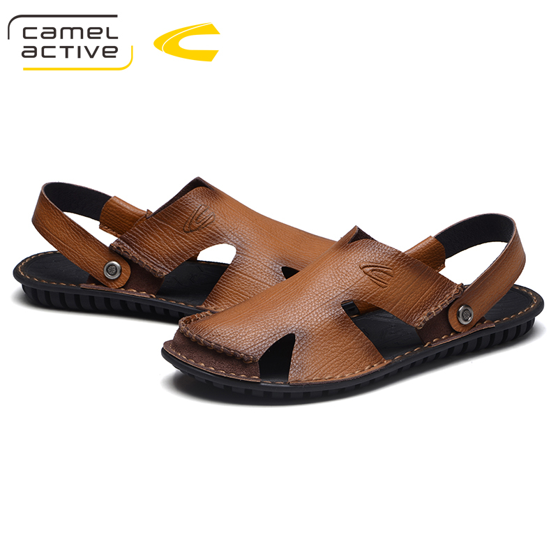 Camel Active New Fashion Summer Shoes Cow Leather Men Sandals Mens Casual Shoes Non-slip Rubber Soles Beach Shoes Plus Size 44 все цены
