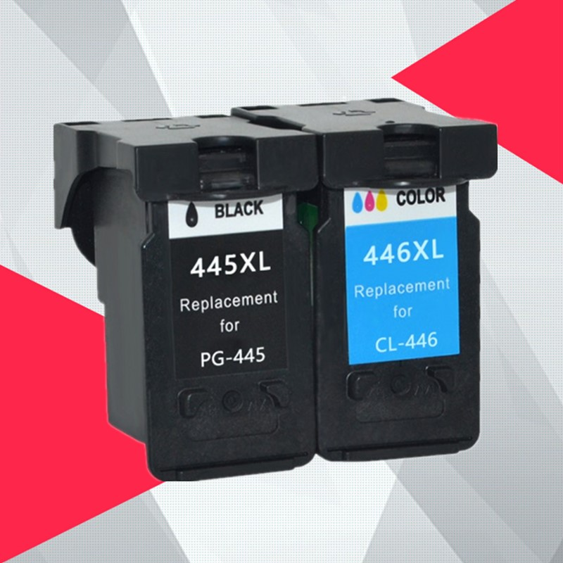 LISM Compatible PG-445XL PG445 Pg-445 CL-446 XL Refilled Ink Cartridge Replacement