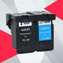 متوافق PG-445XL PG445 pg-445 CL-446 XL تعبئتها خرطوشة حبر استبدال لكانون PG 445 CL 446 PIXMA MX494 MG2440 MG2540