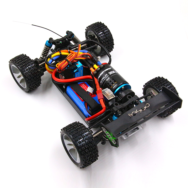 RC WLtoys 1/18 A959 B A969 B A979 B K929 B فرش ترقية 3650 sensored موتور ميتال جير 120A ESC emax ES3004 مضاعفات-في سيارات تعمل بالتحكم عن بعد من الألعاب والهوايات على  مجموعة 1