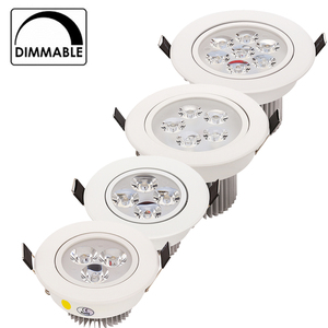 Image 1 - 20pcs/lot Wholesale 3W 4W 5W 7W LED recessed ceiling Downlight AC85 265V White shell Pure/ Natural/ Warm white