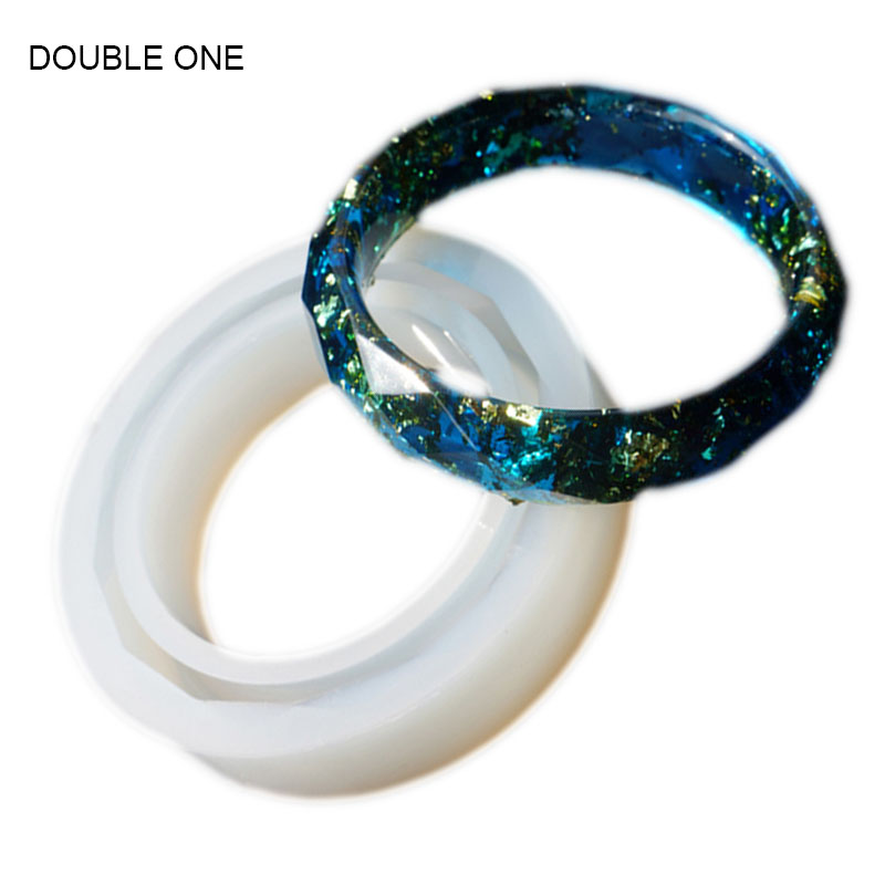 DOUBLE ONE Rhombus Bracelet Jewelry Mold Resin Cabochon Crytal Mouds For DIY