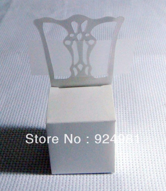 free shipping 100pcs Wedding box Candy Box gift box  bonbonniere paper box white chair