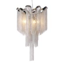 Plafonnier suspendu avec des pompons en aluminium, moderne, couleur argent, luminaire décoratif dintérieur, dintérieur, idéal pour un salon, une salle à manger