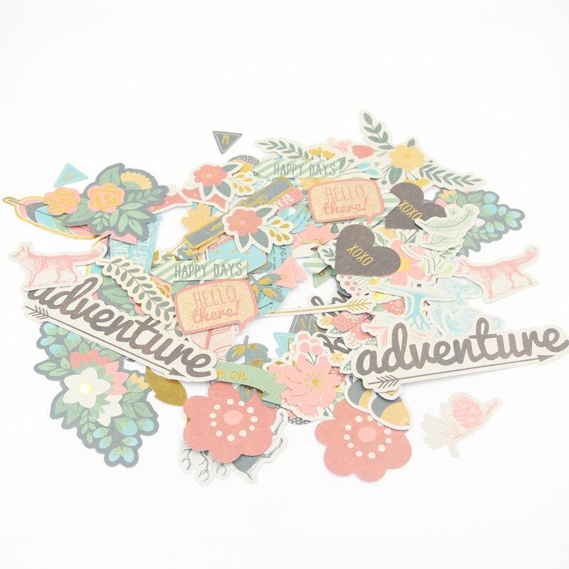 144 pcs Coloré Carton Découpes pour Scrapbooking/Carterie/Journalisation Projet DIY