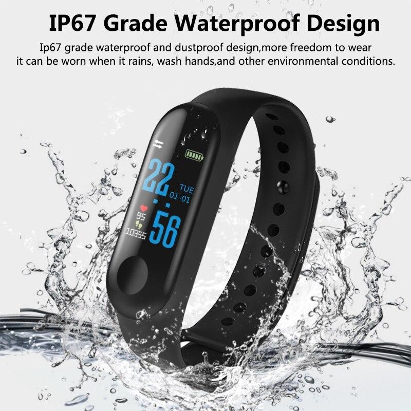 Image 3 - M3 Smart Band Sport Bracelet Fitness Tracker reloj inteligente Wristband Monitor 0.96 inch Heart Rate Monitor Smart band-in Smart Wristbands from Consumer Electronics